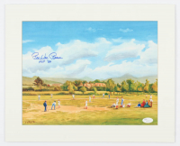 """Pee Wee Reese Signed 13x16 Custom Matted Lithograph Display Inscribed """"HOF 84"""" (JSA COA) at PristineAuction.com"""