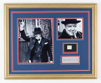 Sir Winston Churchill 18x22 Custom Framed Display with (1) Hand-Written Word from Letter (JSA LOA Copy) at PristineAuction.com