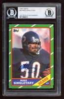 Mike Singletary Signed 1986 Topps #24 (BGS Encapsulated) at PristineAuction.com