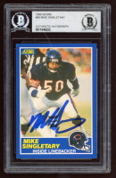 Mike Singletary Signed 1989 Score #50 (BGS Encapsulated) at PristineAuction.com