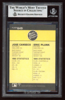 Jose Canseco Signed 1986 Fleer #649 RC  (BGS Encapsulated) at PristineAuction.com