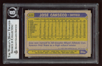 Jose Canseco Signed 1987 Topps #620 (BGS Encapsulated) at PristineAuction.com