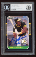 """Jose Canseco Signed 1987 Donruss #97 Inscribed """"40/40"""" (BGS Encapsulated) at PristineAuction.com"""