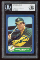 Jose Canseco Signed 1986 Fleer Update #20 (BGS Encapsulated) at PristineAuction.com