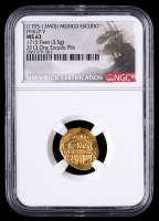 1715 Treasure Fleet Shipwreck (1705-13MOJ) Mexico Philip V Escudo Gold Coin (NGC MS63) at PristineAuction.com