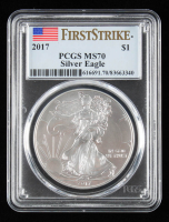 2017 American Silver Eagle $1 One Dollar Coin (PCGS MS70) at PristineAuction.com