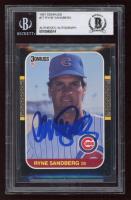 Ryne Sandberg Signed 1987 Donruss #77 (BGS Encapsulated) at PristineAuction.com