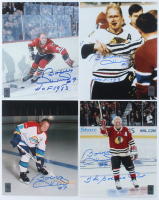 """Lot of (4) Bobby Hull Signed 8x10 Photos Inscribed """"The Golden Jet"""" & """"HOF 1983"""" (Hull Hologram) at PristineAuction.com"""