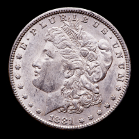 1881 Morgan Silver Dollar at PristineAuction.com