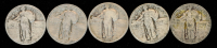 Lot of (5) 1925-1930 Standing Liberty Quarters at PristineAuction.com