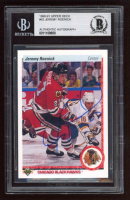 Jeremy Roenick Signed 1990-91 Upper Deck #63 (BGS Encapsulated) at PristineAuction.com