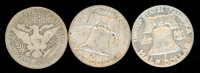 Lot of (3) Coins with 1951 Franklin Half Dollar, 1960 Franklin Half Dollar & 1915-D Barber Half Dollar at PristineAuction.com