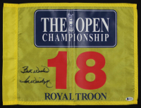 "Tom Weiskopf Signed The Open Championship Golf Pin Flag Inscribed ""Best Wishes"" (Beckett COA) at PristineAuction.com"