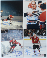 """Lot of (4) Bobby Hull Signed 8x10 Photos Inscribed """"The Golden Jet"""", """"HOF 1983"""" & """"1st 51st"""" (Hull Hologram) at PristineAuction.com"""