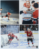 "Lot of (4) Bobby Hull Signed 8x10 Photos Inscribed ""The Golden Jet"", ""HOF 1983"" & ""1st 51st"" (Hull Hologram) at PristineAuction.com"
