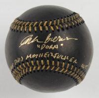 "Corbin Bernsen Signed OML Black Leather Baseball Inscribed ""Dorn"" & ""Strike This M*********** Out!!"" (Beckett COA) at PristineAuction.com"
