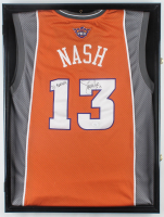 Steve Nash Signed 23.5x31x1.75 Custom Jersey Shadowbox Display (JSA COA) at PristineAuction.com