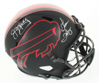Jim Kelly & Thurman Thomas Signed Bills Full-Size Eclipse Alternate Speed Helmet (Schwartz Sports COA) at PristineAuction.com