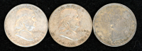Lot of (3) Coins with (2) 1950 Franklin Half Dollars & 1898 Barber Half Dollar at PristineAuction.com