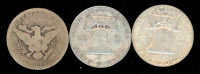 Lot of (3) Half Dollar Coins with 1951 Franklin Half Dollar, 1962-D Franklin Half Dollar & 1901 Barber Half Dollar at PristineAuction.com