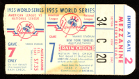 1955 New York Yankees World Series Game 7 Ticket at PristineAuction.com