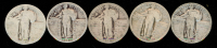 Lot of (5) 1925-1927 Standing Liberty Quarters at PristineAuction.com