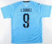 Luis Suarez Signed Team Uruguay Jersey (Beckett COA) at PristineAuction.com