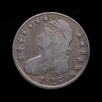 1826 Capped Bust Silver Half Dollar at PristineAuction.com