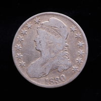 1830 Capped Bust Silver Half Dollar at PristineAuction.com