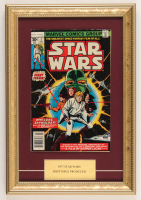 """1977 """"Marvel Comics Group: Star Wars"""" Issue #1 Marvel 11x15.5 Custom Framed Comic Book Display at PristineAuction.com"""