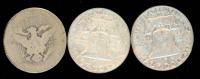 Lot of (3) Coins with 1953-D Franklin Half Dollar, 1960-D Franklin Half Dollar & 1898 Barber Half Dollar at PristineAuction.com