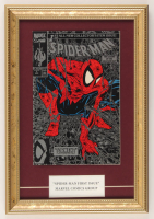 """Marvel Comics """"Spiderman""""  First Issue 11x15.5 Custom Framed Comic Book Display at PristineAuction.com"""