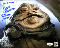 "David Barclay Signed ""Star Wars: Return of the Jedi"" 8x10 Photo Inscribed ""Bo Shuda"", ""Chief Puppeteer"" & ""Jabba"" (JSA COA) at PristineAuction.com"