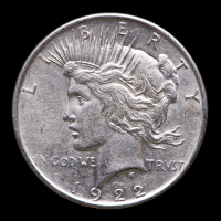 1922 $1 Peace Silver Dollar at PristineAuction.com