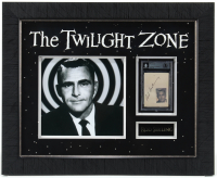 Rod Serling Signed 17.5x21.5 Custom Framed Cut Display (BGS Encapsulated) at PristineAuction.com