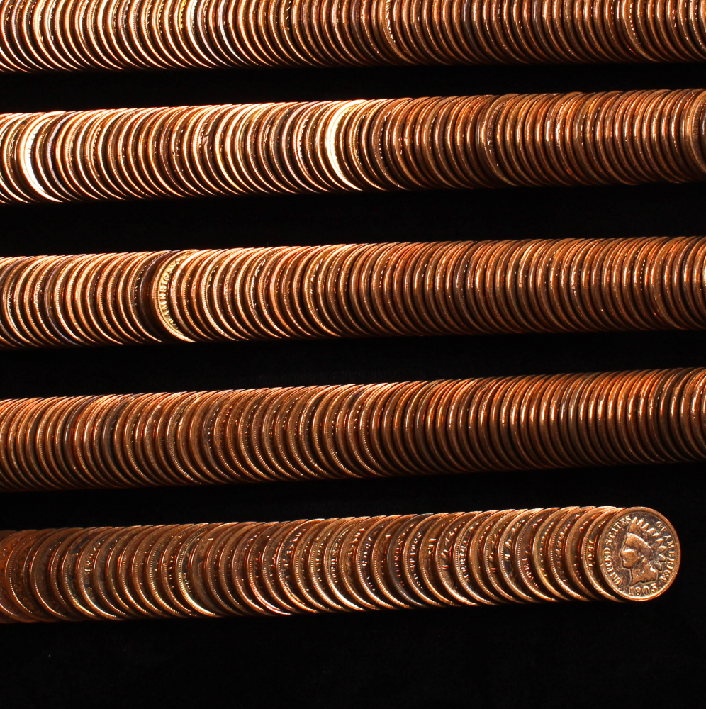Lot of (477) Indian Head Pennies at PristineAuction.com
