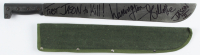 """Warrington Gillette Signed """"Friday The 13th"""" Stainless Steel Machete Inscribed """"First Jason to Kill"""" & """"Jason II"""" (Legends COA) at PristineAuction.com"""