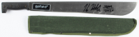 """Kane Hodder Signed """"Friday The 13th"""" Stainless Steel Machete Inscribed """"Jason 7,8,9,X"""" (Legends COA) at PristineAuction.com"""