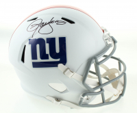 Lawrence Taylor Signed Giants Full-Size Matte White Speed Helmet (Schwartz Sports COA) at PristineAuction.com