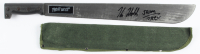 "Kane Hodder Signed ""Friday The 13th"" Stainless Steel Machete Inscribed ""Jason 7,8,9,X"" (Legends COA) at PristineAuction.com"