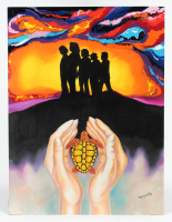 "Hector Monroy ""The Turtles"" 24x32 Original Oil Painting on Masonite (PA LOA) at PristineAuction.com"