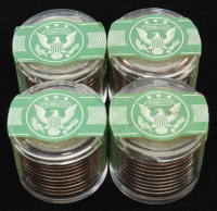 Lot of (4) Ballistic Rolls of (12) Uncirculated State Quarters at PristineAuction.com
