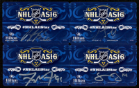 Lot of (4) Signed 2016 NHL All-Star Hilton Key Cards with Tyler Seguin, Jamie Benn, Brandon Saad & John Scott (Seguin, Benn, Saad & Scott COA) at PristineAuction.com