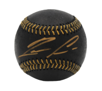 Ronald Acuna Jr. Signed OML Black Leather Baseball (Beckett COA) at PristineAuction.com