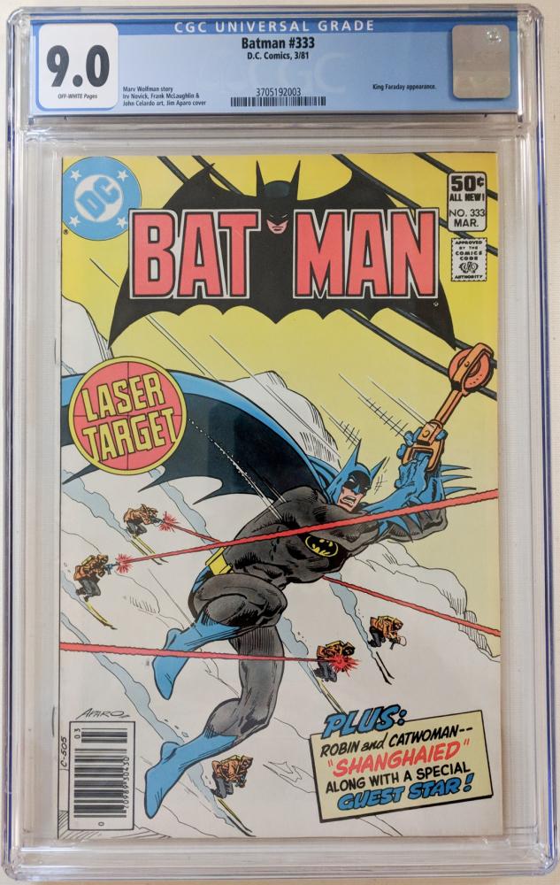 "1981 ""Batman"" Issue #333 DC Comic Book (CGC 9.0) at PristineAuction.com"