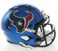 Will Fuller V Signed Texans Chrome Speed Mini Helmet (JSA COA) at PristineAuction.com