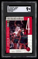 Michael Jordan 1997-98 Collector's Choice The Jordan Dynasty #4 / 1995-96 NBA Champs (SGC 9) at PristineAuction.com