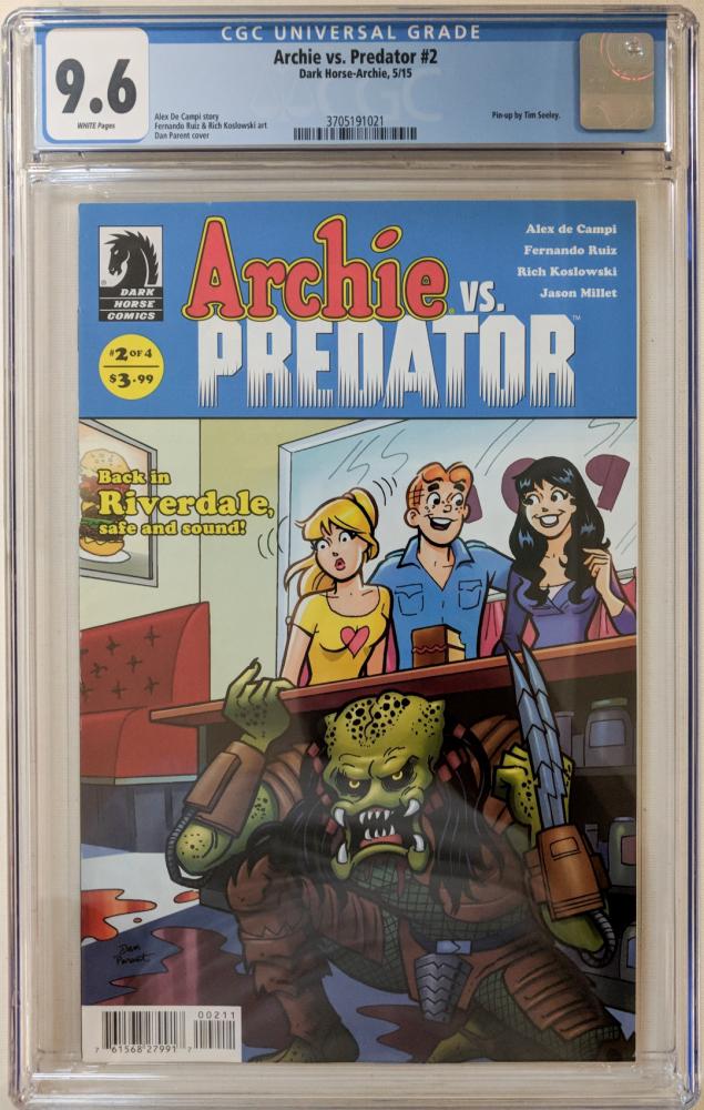 "2015 ""Archie vs. Predator"" Issue #2 Dark Horse Comic Book (CGC 9.6) at PristineAuction.com"