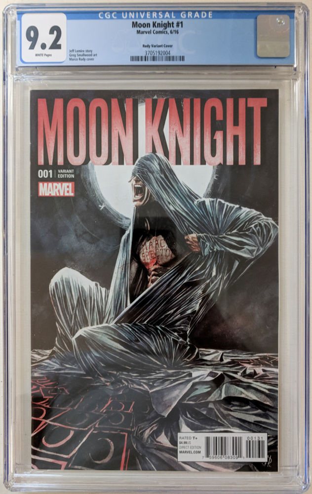 """2016 """"Moon Knight"""" Issue #1 Rudy Variant Marvel Comic Book (CGC 9.2) at PristineAuction.com"""