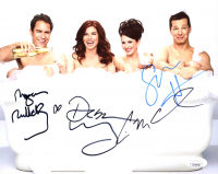 """Will & Grace"" 8x10 Photo Cast-Signed by (4) with Eric McCormack, Megan Mullally, Debra Messing & Sean Hayes (JSA COA) at PristineAuction.com"